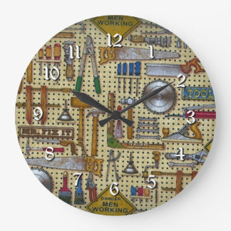 Mr. Fix It Handyman Tools Wall Round Clock