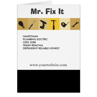 Mr.Fix It Men's Working  Tools  Light Bulb Wrench Card