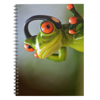 Mr. Frog with Headphones Notebook