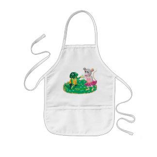 Mr Froggy woos Miss Mousie Kids Apron