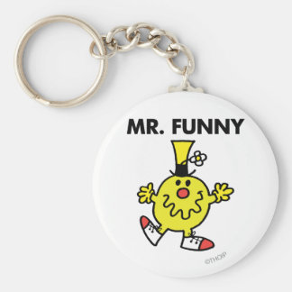 Mr. Funny | Funny Face Basic Round Button Key Ring