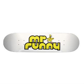 Mr Funny Logo 3 Skate Board
