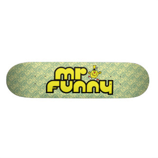 Mr. Funny | Yellow Lettering Skate Board