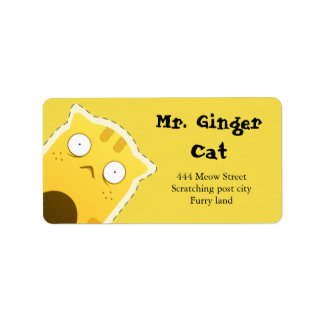 Mr. Ginger Cat address labels