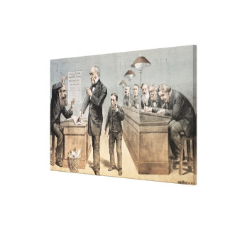 Mr Gladstone and his Clerks Gallery Wrapped Canvas