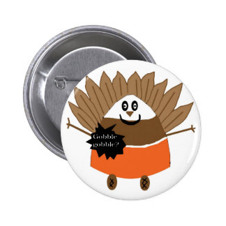 Mr. Gobble Candy Corn button