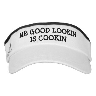 Mr Good Lookin Is Cookin BBQ party sun visor cap