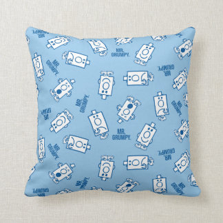 Mr Grumpy | Blue Emotion Toss Pattern Cushion