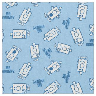 Mr Grumpy | Blue Emotion Toss Pattern Fabric