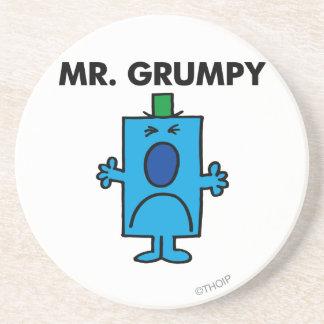 Mr Grumpy Classic Beverage Coaster