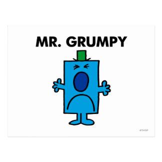 Mr Grumpy Classic Postcard