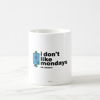 Mr. Grumpy Does Not Like Monday Basic White Mug