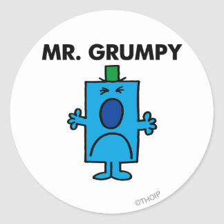 Mr. Grumpy | Frowning Face Classic Round Sticker