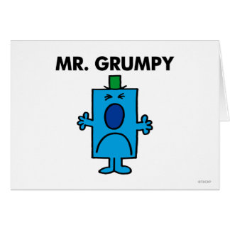 Mr. Grumpy | Frowning Face Greeting Card