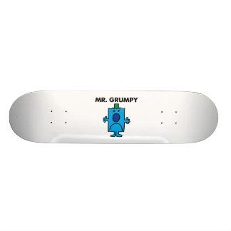 Mr. Grumpy   Frowning Face 20.6 Cm Skateboard Deck