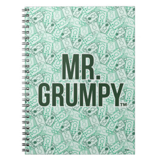 Mr Grumpy | Green Name and Character Toss Pattern Notebooks