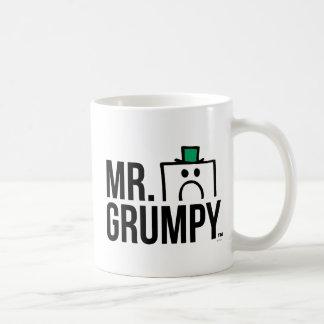 Mr Grumpy | Peeking Head Over Name Basic White Mug