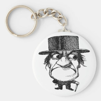 Mr Grumpyhead Basic Round Button Key Ring