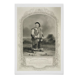 Mr Hackett as Falstaff, in Henry IV (Part 1) Act I Poster