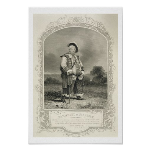 Mr Hackett as Falstaff, in Henry IV (Part 1) Act I Posters