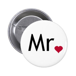 Mr - half of Mr and Mrs set Pins