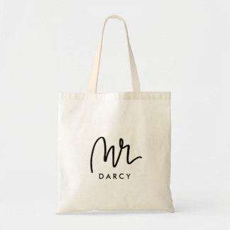 Mr   Hand Lettered Personalizable Tote Bag