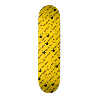 Mr Happy | All Smiles Pattern 19.7 Cm Skateboard Deck