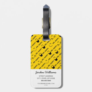 Mr Happy | All Smiles Pattern Bag Tag