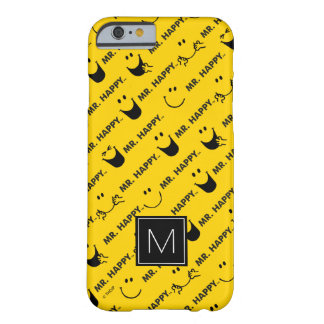 Mr Happy | All Smiles Pattern | Monogram Barely There iPhone 6 Case