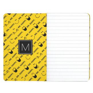Mr Happy | All Smiles Pattern | Monogram Journal