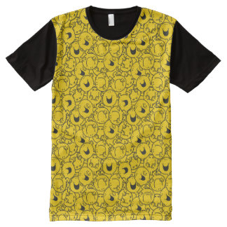 Mr  Happy | Batch of Yellow Smiles Pattern All-Over Print T-Shirt