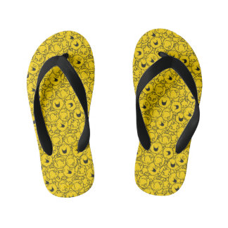 Mr  Happy | Batch of Yellow Smiles Pattern Kid's Thongs
