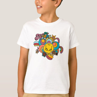Mr. Happy | Colorful Swirls & Stars T-Shirt