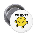 Mr. Happy   Dancing & Smiling 2 Inch Round Button