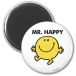 Mr. Happy | Dancing & Smiling 6 Cm Round Magnet