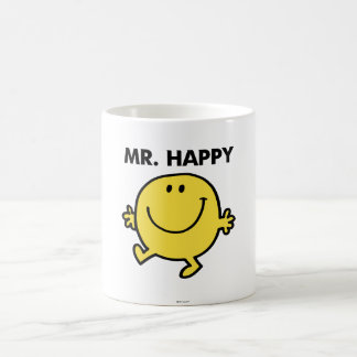 Mr. Happy | Dancing & Smiling Classic White Coffee Mug