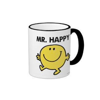 Mr. Happy | Dancing & Smiling Ringer Mug