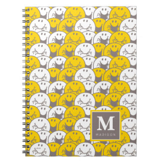 Mr Happy | Flashing Smiles Pattern | Add Your Name Notebook