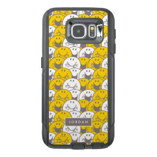 Mr Happy | Flashing Smiles Pattern | Add Your Name OtterBox Samsung Galaxy S6 Case