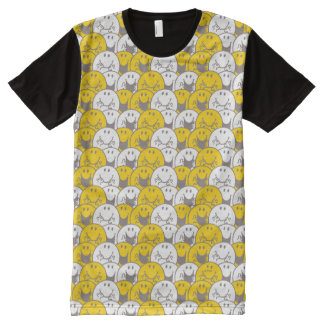 Mr Happy | Flashing Smiles Pattern All-Over Print T-Shirt