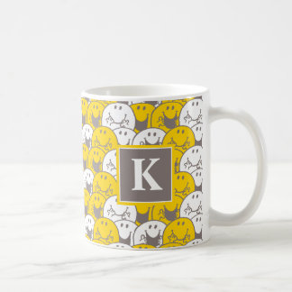 Mr Happy | Flashing Smiles Pattern | Monogram Coffee Mug