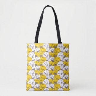 Mr Happy | Flashing Smiles Pattern Tote Bag