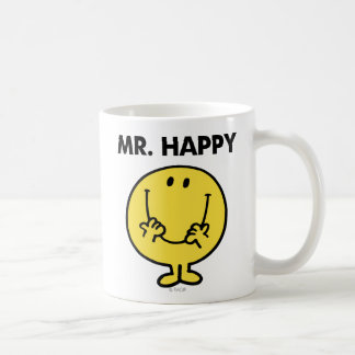Mr. Happy | Giant Smiley Face Basic White Mug