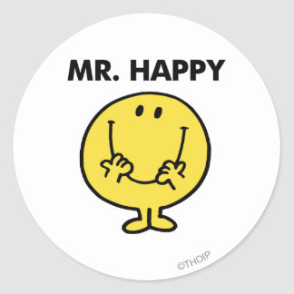 Mr. Happy | Giant Smiley Face Round Sticker