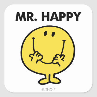 Mr. Happy | Giant Smiley Face Square Sticker