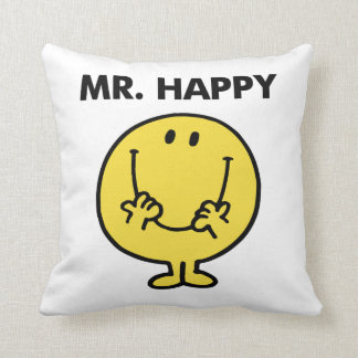 Mr. Happy | Giant Smiley Face Throw Pillow