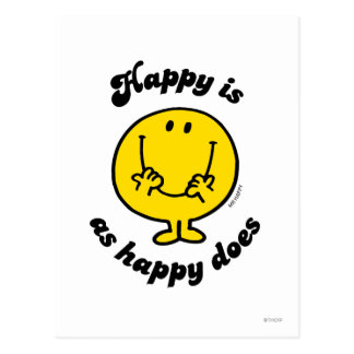 Mr. Happy | Happy Is As Happy Does Postcard