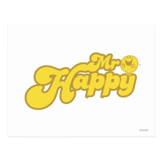 Mr. Happy | Joyous Laughter Postcard
