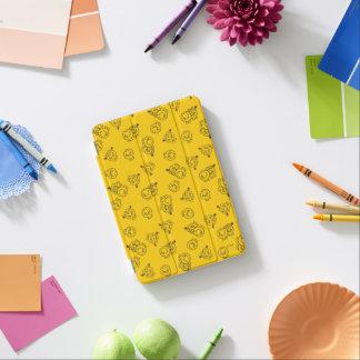 Mr Happy & Little Miss Sunshine   Yellow Pattern iPad Mini Cover