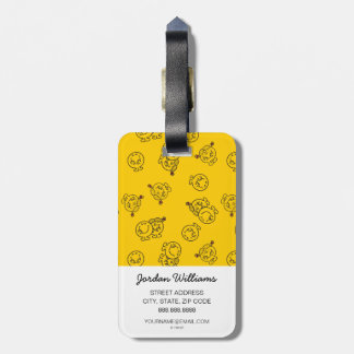 Mr Happy & Little Miss Sunshine | Yellow Pattern Luggage Tag